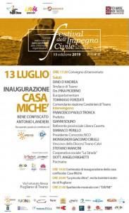 Casa Miché: ieri a Pugliano l'inaugurazione.