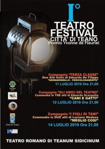 Domenica 14 luglio ultima serata del Teatro Festival di Teano.