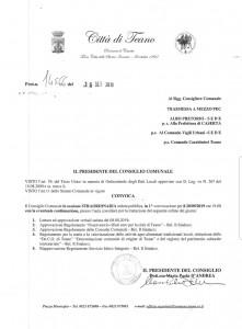 Convocato il Consiglio comunale per il 20 settembre alle 19.