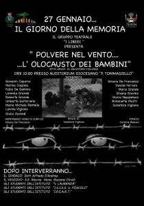 """""""POLVERE NEL VENTO… L'OLOCAUSTO DEI BAMBINI"""". GIORNATA DELLA MEMORIA A TEANO."""