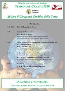 """Diocesi di Teano-Calvi: """" Abitare il Creato nel Giubileo della Terra""""."""
