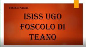 Le allieve dell'ISISS UGO FOSCOLO DI TEANO presentano la loro scuola