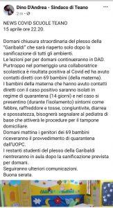<H2>Ultim'ora: chiude la materna della Garibaldi per sanificazione!!! <br><H4><font color='black'>Solo 4 giorni in presenza e la materna chiude un'altra volta